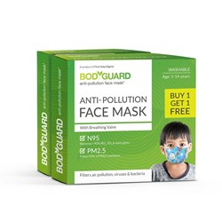 BodyGuard Anti Pollution Reusable Face Mask  Buy 1 Get 1 Free
