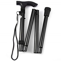 Foldable Walking Stick (Black)