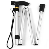 Foldable Walking Stick (Silver)