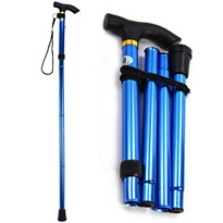 Foldable Walking Stick (Blue)