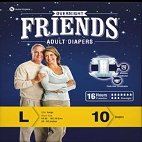 Friends Overnight Adult Diapers (10 pc)